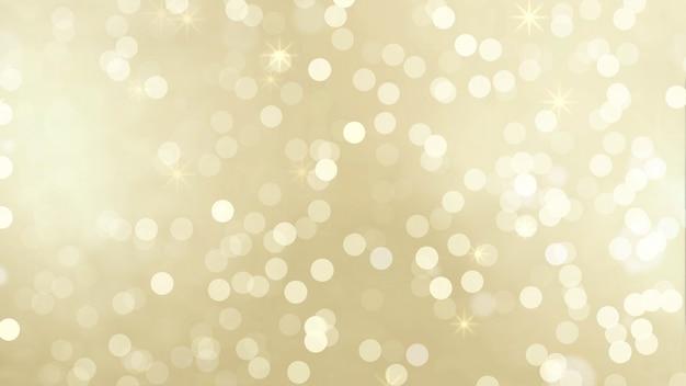 Złote cząsteczki bokeh