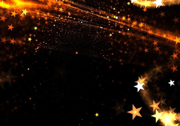Złote gwiazdy błyszczą tło