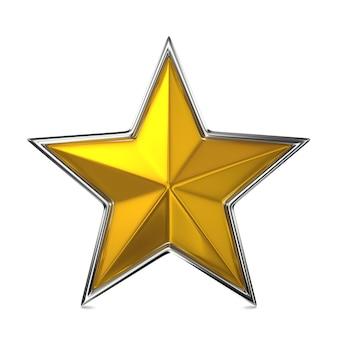 Złote gwiazdy na białym tle. koncepcja nagrody.