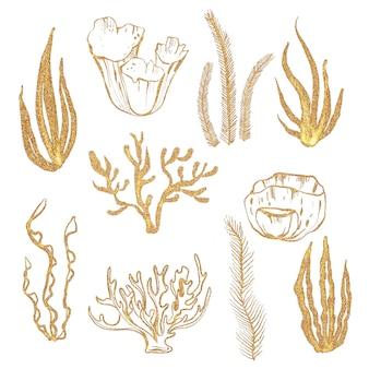 Złote korale ilustracje