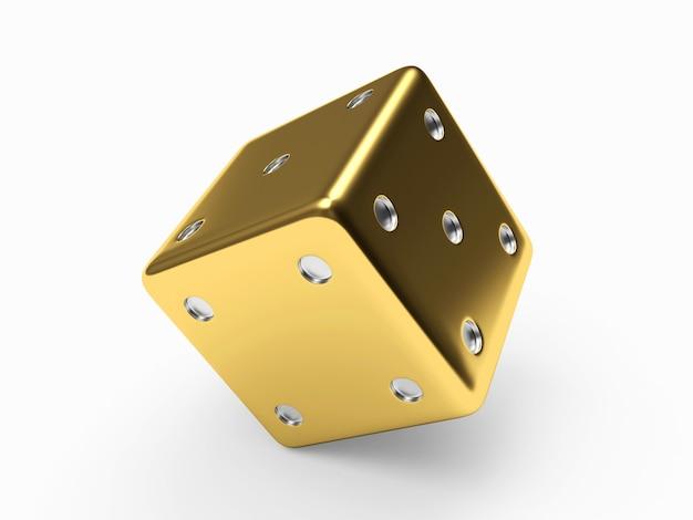 Złote kostki z bliska