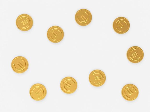 Złote monety ze znakiem euro