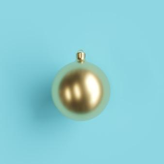 Złote ozdoby christmas ball na niebiesko
