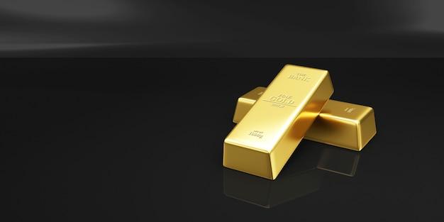 Złote paski na czarnym tle