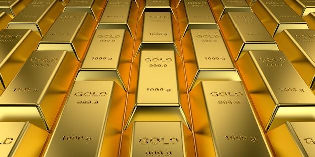 Złote paski w renderowaniu 3d