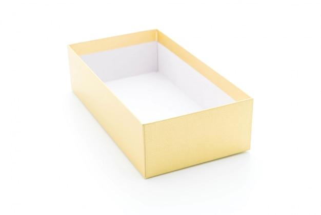 Złote pudełko z papieru
