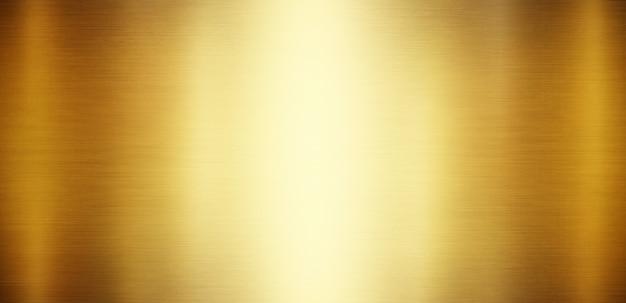 Złote tło metalu z polerowanej, szczotkowanej tekstury dla projektu
