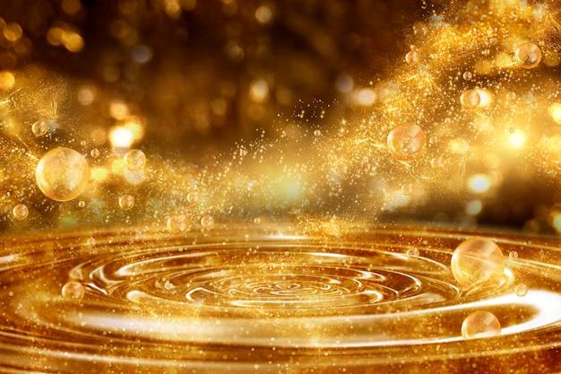 Złoty brokat blask tło