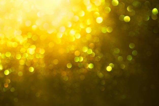 Złoty brokat bokeh oświetlenie tekstury niewyraźne tło
