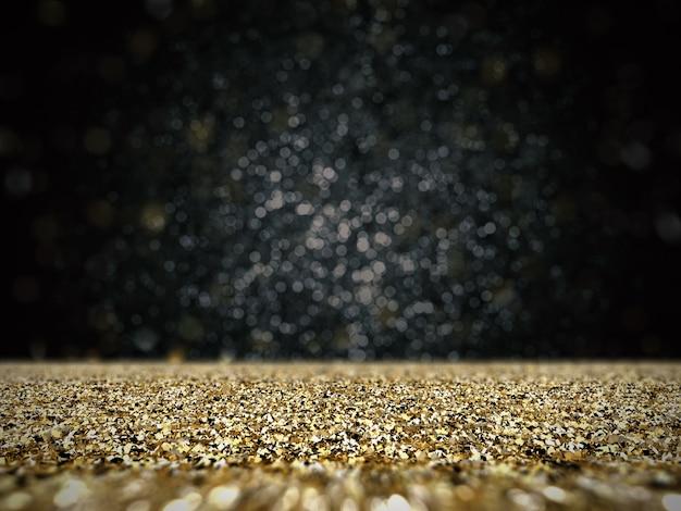 Złoty brokat z tłem bokeh