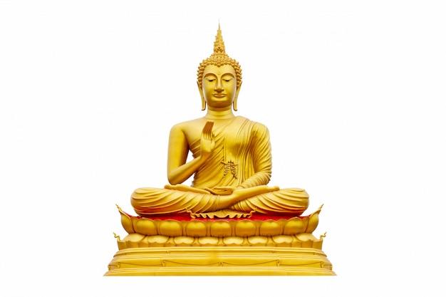 Złoty buddha odizolowywający
