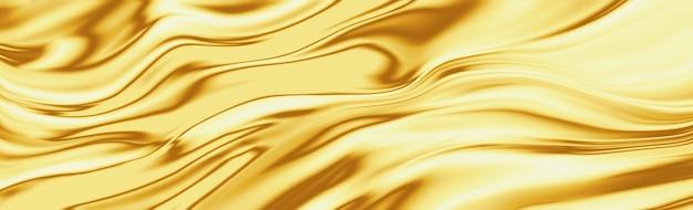 Złoty jedwab fali tekstury luksusowe tło