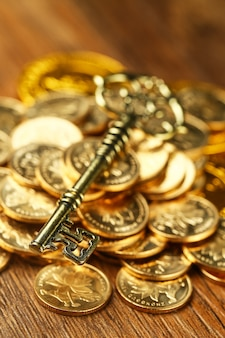 Złoty klucz na monety