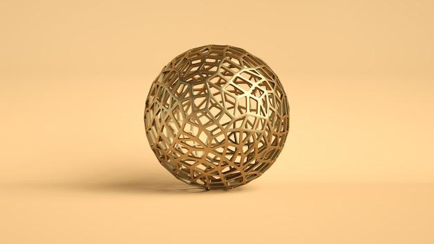 Złoty kula abstrakcyjny luksus