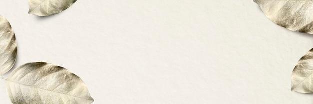 Złoty liść granicy ramki luksusowy transparent tło