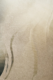 Złoty pociągnięcie pędzla na ilustracji tła brokatu
