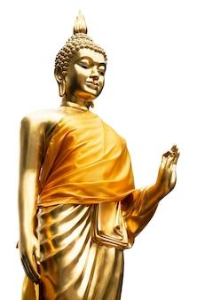 Złoty posąg buddy