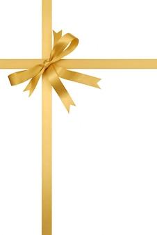 Złoty prezent wstążki dziobu