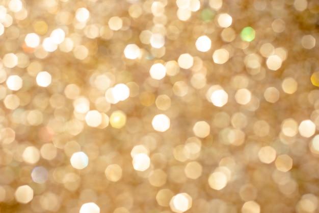 Złoty srebrny brokat bokeh niewyraźne streszczenie nakładki