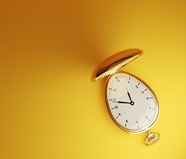 Złoty zegarek kieszonkowy vintage