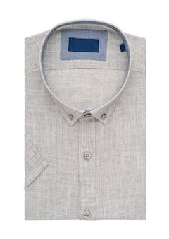 Złożona koszula na białym tle, widok z góry