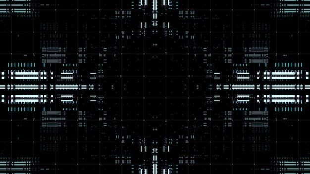 Złożona technologia ilustracja tło. renderowanie wielowarstwowe. streszczenie przetwarzanie danych.