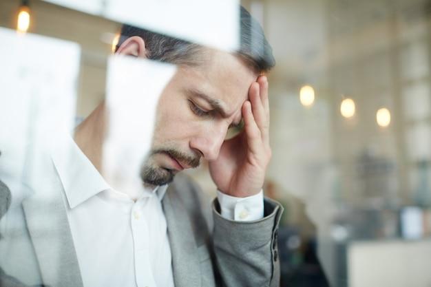 Zmęczony człowiek