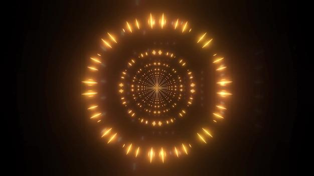 Zmiana koloru 4k uhd odbicia cząstek ilustracja 3d