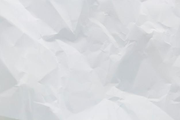 Zmiażdżona biała tekstura papieru jako tło