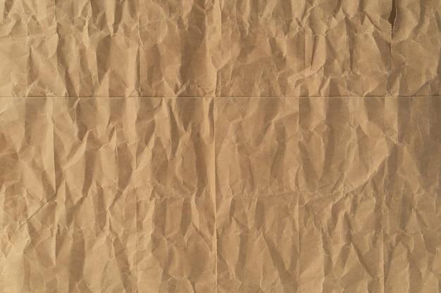 Zmięta brown papieru tekstura dla tła
