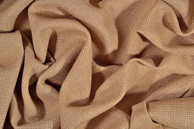 Zmięte płótno bawełniane do robótek ręcznych jako tekstura tła