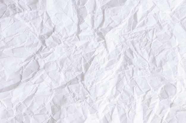 Zmięty biały papier tekstury tła