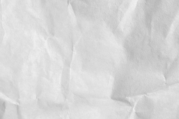 Zmięty papier biały tekstury i tła