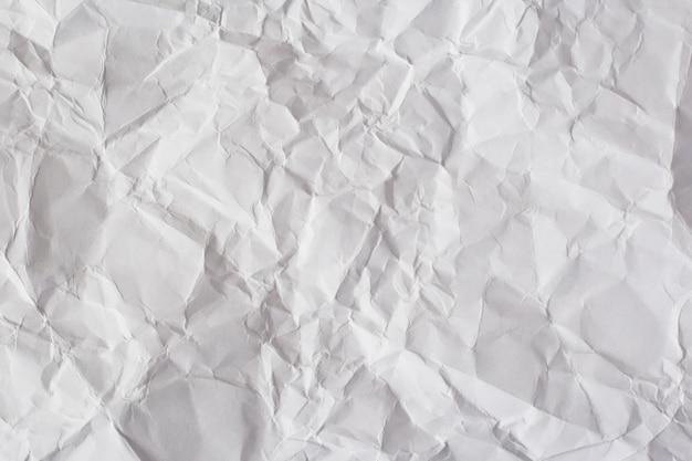 Zmięty papier biały tekstury