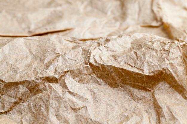 Zmięty szary papier do gotowania