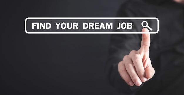 Znajdź swoją wymarzoną pracę. pomysł na biznes