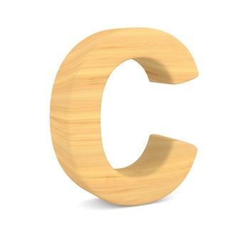 Znak c na spacji. ilustracja na białym tle 3d