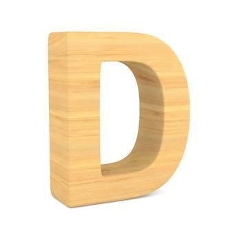 Znak d na spacji. ilustracja na białym tle 3d