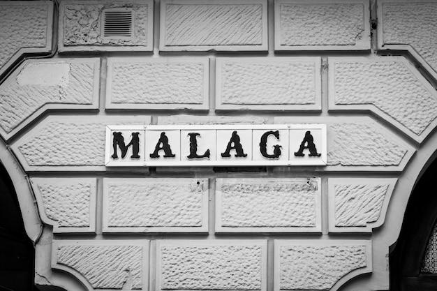 Znak drogowy w maladze, region andaluzji w hiszpanii