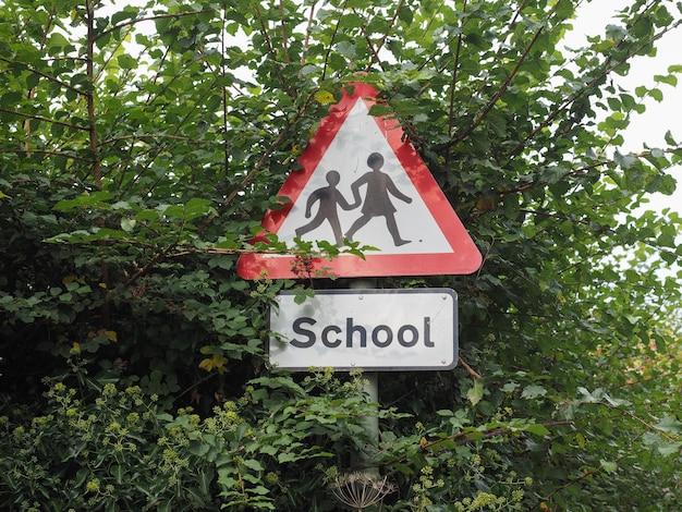 Znak dzieci w wieku szkolnym