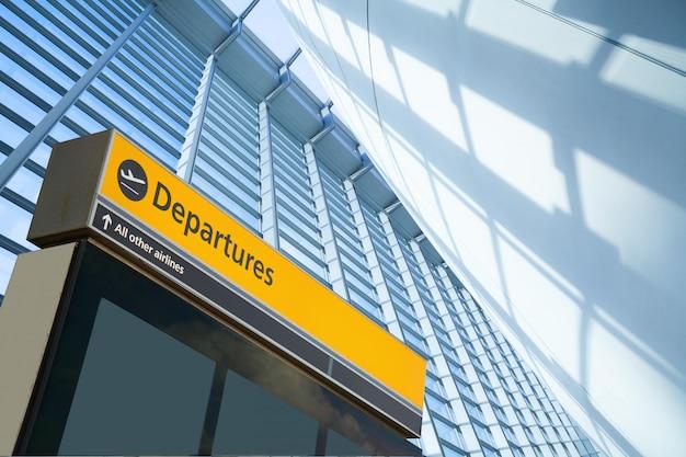 Znak informujący o odlocie i przylocie na lotnisko