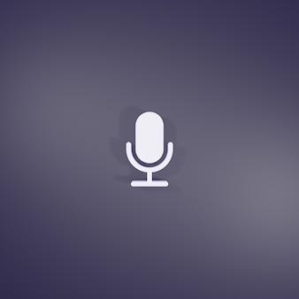 Znak mikrofonu renderowania 3d