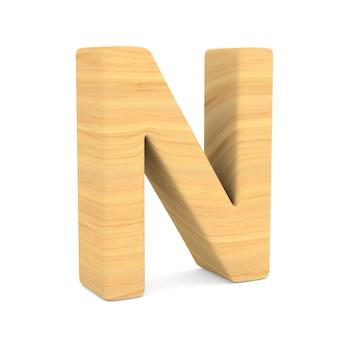 Znak n na spacji. ilustracja na białym tle 3d