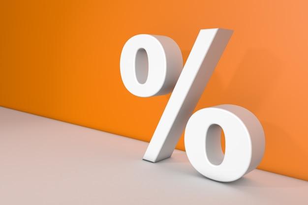 Znak procentu na pomarańczowo