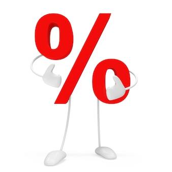 Znak procentu osobowości na białym tle