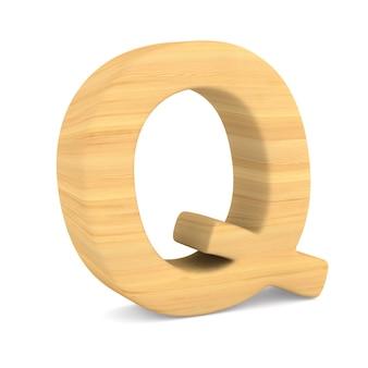 Znak q na białej przestrzeni. ilustracja na białym tle 3d