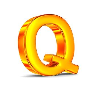 Znak q na białej przestrzeni