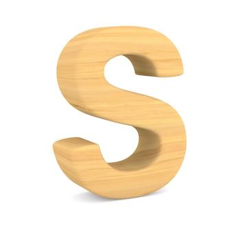 Znak s na spacji. ilustracja na białym tle 3d