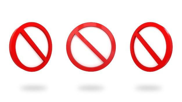 Znak stop ikona renderowania 3d