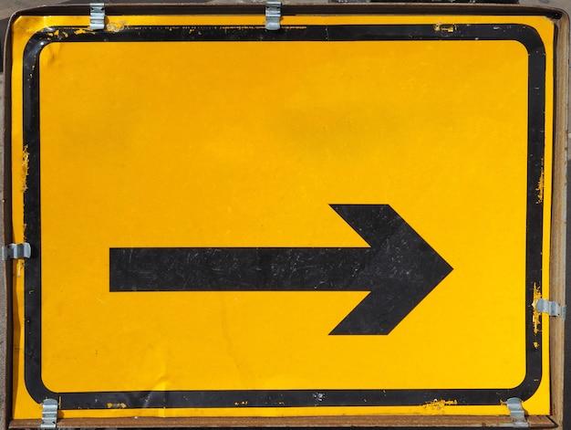 Znak strzałki kierunku